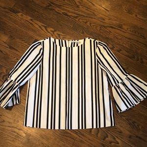 Alice & Olivia Bernice striped blouse sz S